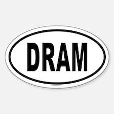 DRAM Oval Decal