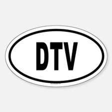 DTV Oval Decal