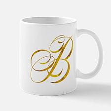 Monogram B Gold Faux Foil Monograms Metallic Mugs