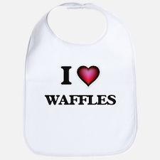 I love Waffles Baby Bib