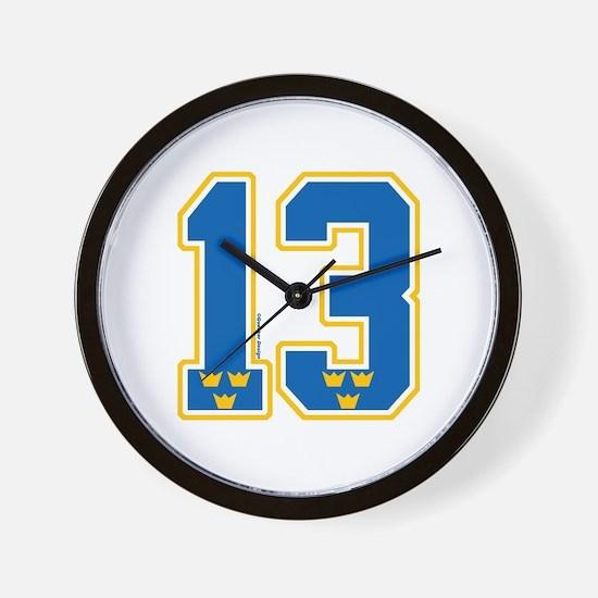 SE Sweden(Sverige) Hockey 13 Wall Clock