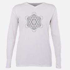 Ash Grey T-Shirt with Metatron's cube T-Shirt