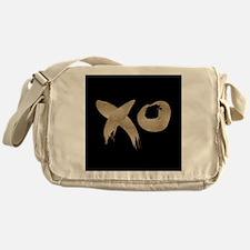 brushstroke black gold XOXO Messenger Bag