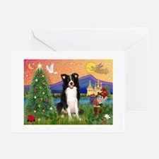 Christmas Fantasy Border Collie Cards (Pack of 6)