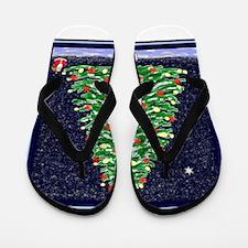 Snowy Christmas Flip Flops