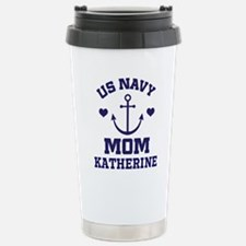 US Navy Mom Personalized Travel Mug