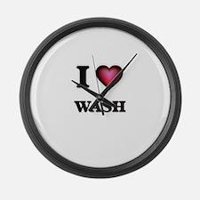 I love Wash Large Wall Clock