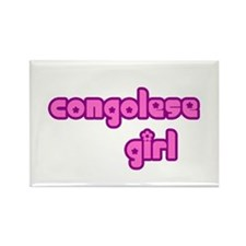 Congelese Girl Cute Rectangle Magnet