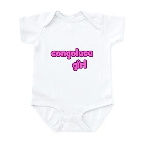Congelese Girl Cute Infant Bodysuit