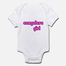 Congelese Girl Cute Infant Bodysuit