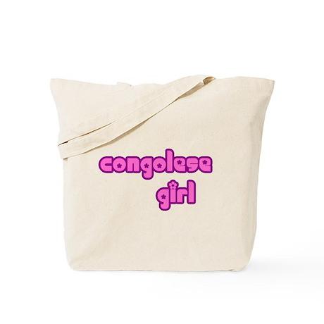 Congelese Girl Cute Tote Bag