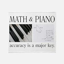 Math and Piano _ Major Key Throw Blanket