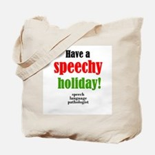 Speechy Holiday Tote Bag