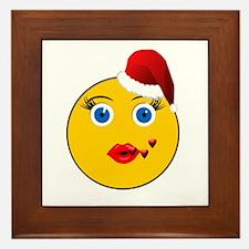Emog Blowing Kisses Holiday Framed Tile