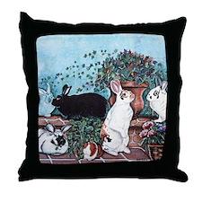 Rabbit Social Throw Pillow Zoom Center