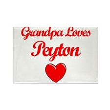 Grandpa Loves Peyton Rectangle Magnet