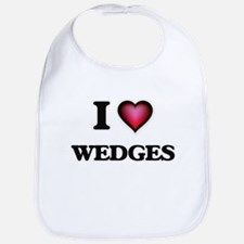 I love Wedges Baby Bib