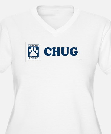CHUG Womes Plus-Size V-Neck T-Shirt