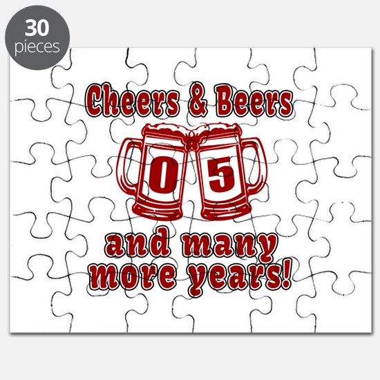 Cheers And Beers 05 And Many More Years Puzzle
