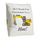 Christmas Hoe Burlap Throw Pillow
