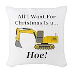 Christmas Hoe Woven Throw Pillow