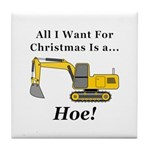 Christmas Hoe Tile Coaster