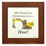 Christmas Hoe Framed Tile