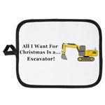 Christmas Excavator Potholder