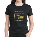 Christmas Excavator Women's Dark T-Shirt