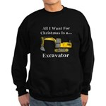 Christmas Excavator Sweatshirt (dark)