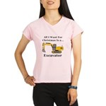 Christmas Excavator Performance Dry T-Shirt