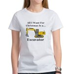 Christmas Excavator Women's T-Shirt