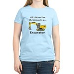 Christmas Excavator Women's Light T-Shirt