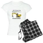 Christmas Excavator Women's Light Pajamas