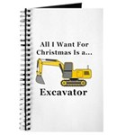 Christmas Excavator Journal