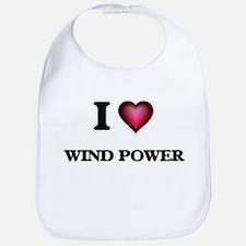 I love Wind Power Baby Bib