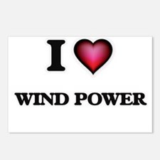 I love Wind Power Postcards (Package of 8)