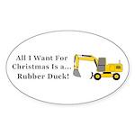 Christmas Rubber Duck Sticker (Oval 10 pk)