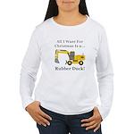 Christmas Rubber Duck Women's Long Sleeve T-Shirt
