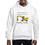 Christmas Rubber Duck Hooded Sweatshirt