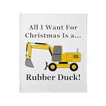 Christmas Rubber Duck Throw Blanket