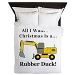 Christmas Rubber Duck Queen Duvet