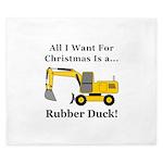 Christmas Rubber Duck King Duvet