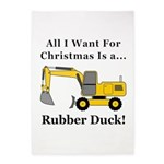 Christmas Rubber Duck 5'x7'Area Rug