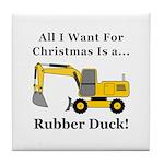 Christmas Rubber Duck Tile Coaster