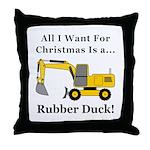 Christmas Rubber Duck Throw Pillow
