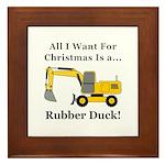 Christmas Rubber Duck Framed Tile
