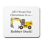 Christmas Rubber Duck Mousepad