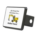 Christmas Rubber Duck Rectangular Hitch Cover