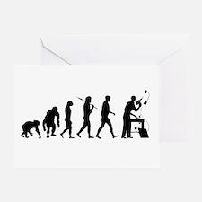 Handyman Evolution Greeting Cards